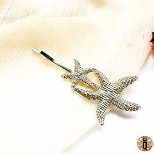 ⚜️[𝟯/$𝟭𝟴]⚜️Silver 2 Starfish Simple Hairpin New